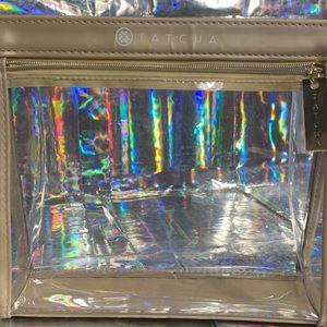 2/$25 Beige/Gold hardware TATCHA TSA-ok travel bag